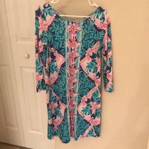 Lilly Pulitzer masterpiece print dress size S
